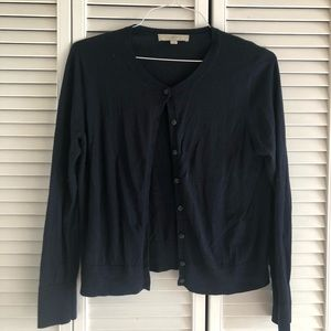 Navy Blue cardigan by Ann Taylor Loft